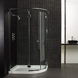 Showers & Taps / Shower Doors - Offset Quad